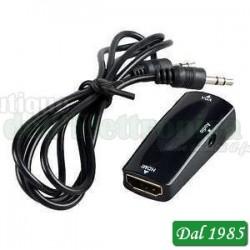 CONVERTITORE MICRO HDMI / VGA CON AUDIO