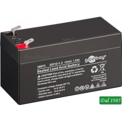 BATTERIA AL PIOMBO 12 VOLT 1,3 AMPER FASTON 4,8MM GOOBAY