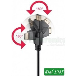 CAVO HIGHT SPEED HDMI™ CON Ethernet, DORATOSPINA HDMI™ (tipo A) > SPINAHDMI™ (tipo A); GIREVOLE 360°