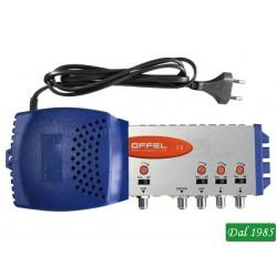 CENTRALINO PER INTERNO INGRESSO VHF 21-34 36/60 21/60 GUADAGNO 33 dB 12 VOLT 123 dBuV
