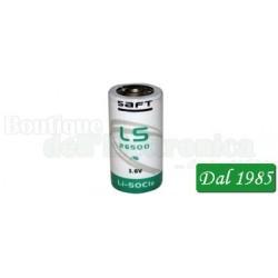 SAFT LITIO LS26500 CNA C 3,6 VOLT 7,7 AH CON REOFORI