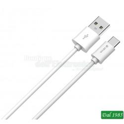 CAVO DEVIA SMART DA USB A TIPO C LUNGHEZZA 1 METRO COLORE BIANCO