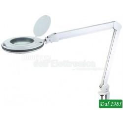 LAMPADA 60 LED CON LENTE 5 DIOTTRIE E MORSETTO DUAL COLOR DIMMERABILE