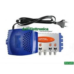 CENTRALINO OFFEL (28-125) LTE 3 INGR V-U-U 37dB 12V 125dBuV MAX 40 PRESE