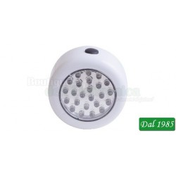 LAMPADA COMPATTA 24LED 3AAA CON MAGNETECod. RX8189