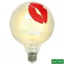 LAMPADINA TATTOO LED KISS 125 E27 4W LUCE CALDA