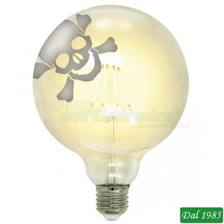 LAMPADINA TATTOO LED THE SKULL 125 E27 4W LUCE CALDA