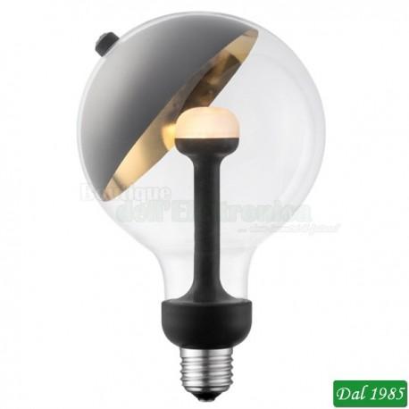 LAMPADINA VINTAGE LED GLOBO 125 MOVE ME BLACK-GOLD E27 5,5W LUCE CALDA
