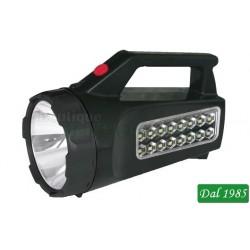 FARO 16 LED + 3W RICARICABILE