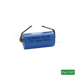 BATTERIA A LITIO LIR17335 3,7 VOLT 750 MAH A SALDARE
