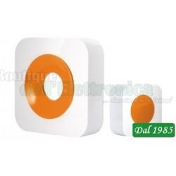 CAMPANELLO WIRELESS CON PORTATA 150 METRI ( Mod. iSNATCH QH-858S BIANCO/ARANCIO )