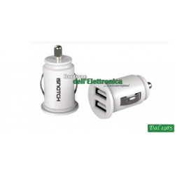 MICROALIMENTATORE DA AUTO 2 USCITE USB 1A + 1A