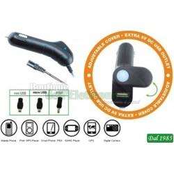 ADATTATORE AUTO/CAMION 12/24V USCITA 5V USB AP52A
