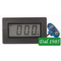 AMPEROMETRO DIGITALE DA PANNELLO 3 1/2 LCD