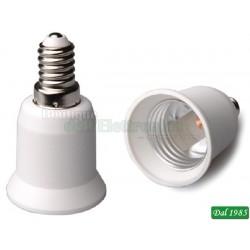 ADATTATORE PER LAMPADE DA E14 A E27