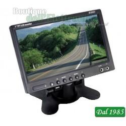 MONITOR LCD DA 7 PER VIDEOSORVEGLIANZA ( Mod. GBC VS-705 )