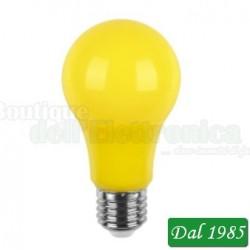 LAMPADA A LED 230V 5W E27 COLORE GIALLA