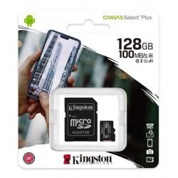 MICRO SD 128GB CLASSE 10 PLUS KINGSTON 100MB/s