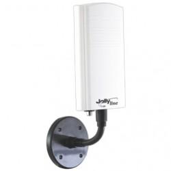ANTENNA TV AMPLIFICATA DA BALCONE o BARCA VHF/UHF 15 dB CON FILTRO LTE