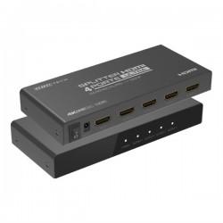 SPLITTER HDMI 4 PORTE UHD TV 4K X 2K @ 60HZ HDR CON DOWNSCALING