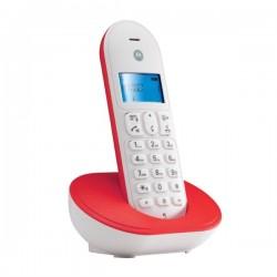 TELEFONO CORDLESS MOTOROLA T101 ROSSO/BIANCO