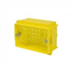 SCATOLA 3 MODULI RETTANGOLARE CON INSERTI METALLICI 104x74x53.5mm
