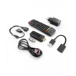 DECODER DTT PLUG-IN HDMI DVB-T2 HEVC COLORE NERO