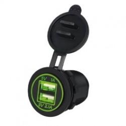 DOPPIA PRESA USB DA PANNELLO 2.1A 1A LUMINOSA