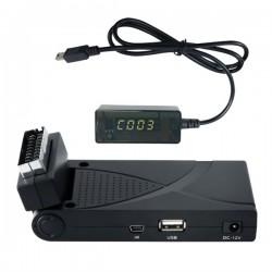 DECODER DIGITALE TERRESTRE DVB-T2 HEVC 10 HD SCART/HDMI USB LAN