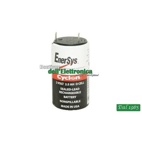 BATTERIA AL PIOMBO CYCLON 2 V - 2,5 AH ( Mod. ENERSYS 2V/2,5Ah )