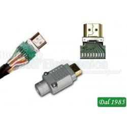 CONNETTORE HDMI DA SALDARE CONTATTI PLACCATI ORO
