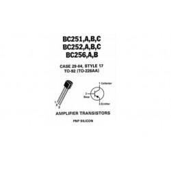 TRANSISTOR BC 256 PNPUni 64V 0,1A 0,3W 130MHz