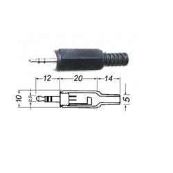 SPINA JACK 2,5MM STEREO