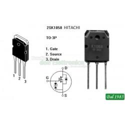 MOSFET 2SK1058 = 2SK1056, 2SK1057, 2SK1058