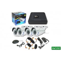 KIT DVR AHD + 4CAM AHD720P + 4CAVI + BOX