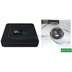 MINI DVR DI RETE (NVR) H.264 + 4 TELECAMERE IP 720P TVCC