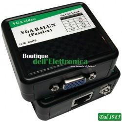 VGA BALUN PASSIVO - 1CH - RJ45 - BOX