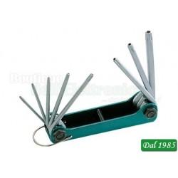 CHIAVI TORX FORATI KIT T9-T40