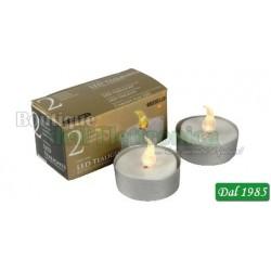 CANDELE 2 TEA-LIGHT LED BIANCHI