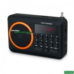 RADIO PORTATILE USB-SD ARANCIONE