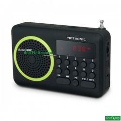 RADIO PORTATILE USB-SD VERDE