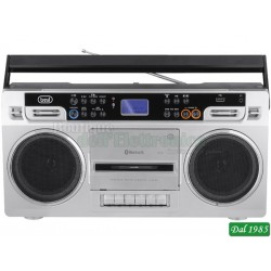 RADIO REGISTRATORE STEREO BLUETOOTH TREVI RR 504 BT SILVERCOD: 0RR50406