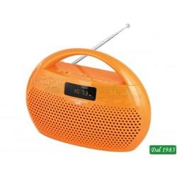 RADIO RIPRODUTTORE STEREO MP3 BLUETOOTH USB MICROSD TREVI KB 308 ARANCIO