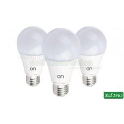 KIT 3 LAMPADINE LED GOCCIA E27 12W LUCE NATURALE 4000°K