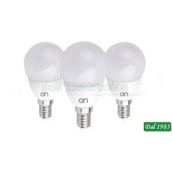 KIT 3 LAMPADINE LED MINI GOCCIA E14 5W LUCE FREDDA 6000°K