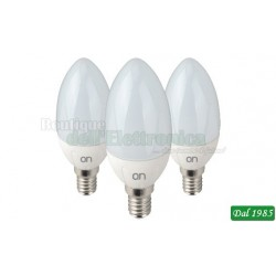 KIT 3 LAMPADINE LED OLIVA E14 5W LUCE NATURALE 4000°K