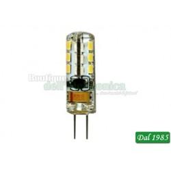 LAMPADA BISPINA LED SILICON G4 1,5W LUCE CALDA 3.000°K