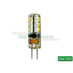LAMPADA BISPINA LED SILICON G4 1,5W LUCE FREDDA 6.000°K