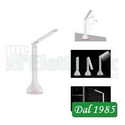 LAMPADA DA TAVOLO 18 LED CON BATTERIA RICARICABILE E BASE MULTICOLOR RGB