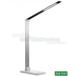 LAMPADA DA TAVOLO 45 LED DIMMER TOUCH CON BASE DI RICARICA WIRELESS PER SMARTPHONE